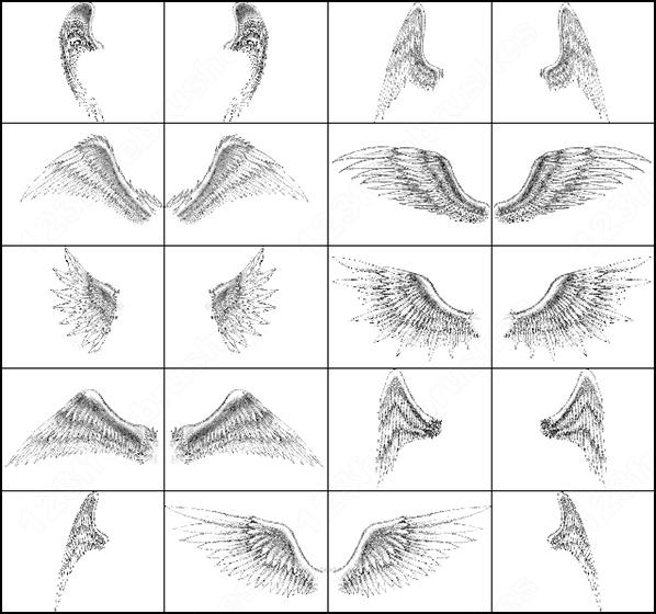 Кисти крылья ангела для фотошопа