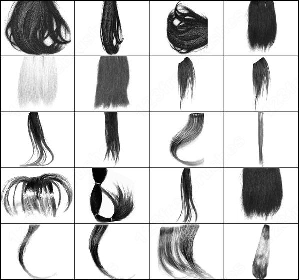 Волосы скачать кисти
